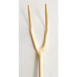 Horca de madera de 2 púas